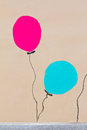 Free Balloons On The Wall . Stock Photo - 26542870