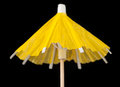 Free Yellow Paper Cocktail Umbrella Royalty Free Stock Images - 26545329