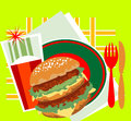 Free Decorative Image Of A Great Burger Stock Photography - 26546732