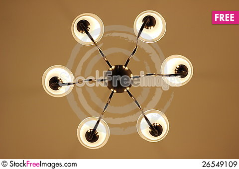 Free Decoration Light, Simple Chandelier Royalty Free Stock Images - 26549109