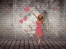 Free Flower Girl Dancing Stock Images - 26542884
