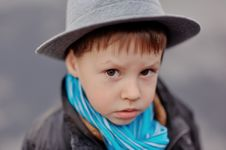 Free The Boy In A Hat Royalty Free Stock Image - 26546666