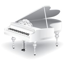 Free White Grand Piano Stock Image - 26546901