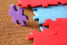 Completing The Missing Jigsaw Puzzle Royalty Free Stock Photo