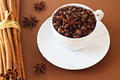 Free Coffee Beans In A White Cup Royalty Free Stock Images - 26554469