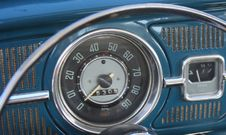 Vintage Dashboard Stock Photo