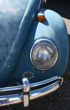 Headlight Of Vintage Car Royalty Free Stock Image