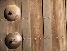 Part Of Japanese Castle Door Stock Images