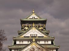 Free Osaka Castle Before Rain. Royalty Free Stock Image - 26552036