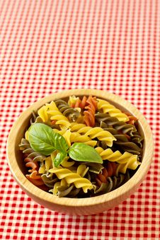 Free Multicolored Pasta Uncooked Stock Photography - 26554622