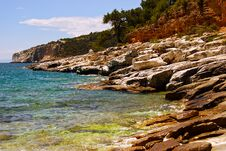 Free Rocky Beach In Greece Royalty Free Stock Photos - 26556298
