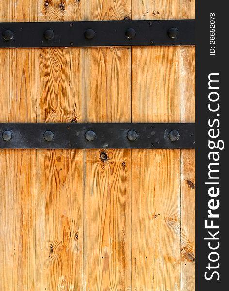 Wooden door and Metal Hinge