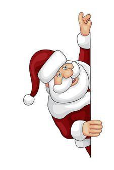 Free Santa Looking Over An Edge Stock Image - 26565231