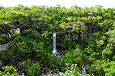 Free Soei Sawan Waterfall. Stock Photos - 26565793