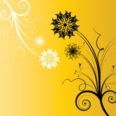 Free Abstract Flowers Background Royalty Free Stock Photos - 26566668