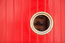 Free Red Painted Wood Panels With A Bull S Eye Royalty Free Stock Photo - 26566915