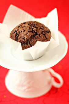 Free Vegan Chocolate Muffin Royalty Free Stock Images - 26569529