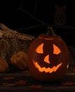 Free Smiling Jack-O-Lantern Royalty Free Stock Image - 26571796