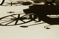Free Silhouette Shadow Of Vintage Carriage Stock Photo - 26575250