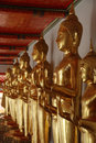 Free Row Of Buddhas Royalty Free Stock Photo - 26575765
