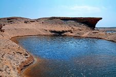 Free A Water Reserve In The Desert Of Egypt Stock Photos - 26570493