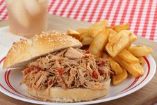 Free Pulled Pork Sandwich Stock Photos - 26571863
