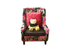 Teddy Bear  On The Couch. Stock Images