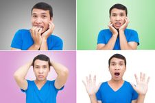 Free Asian Man Face Expressions Royalty Free Stock Photos - 26573378
