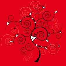 Free Valentine Tree Royalty Free Stock Photo - 26576175