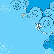 Free Blue Floral Background Royalty Free Stock Photo - 26576225