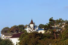 Rural Landscape With Church Stock Image