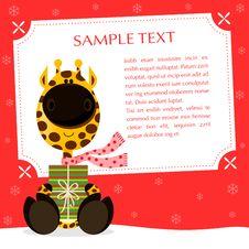 Free Xmas Giraffe Royalty Free Stock Photo - 26577385