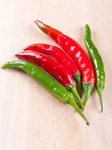 Free Chili Peppers Royalty Free Stock Photography - 26577567