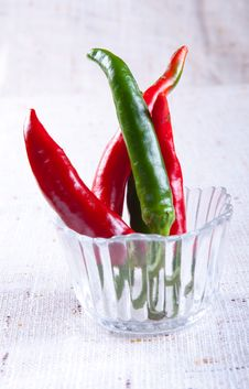 Chili In A Glass Stock Images