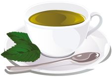 Free Cup Of Mint Tea Royalty Free Stock Image - 26578786