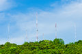 Free Steel Communication Antenna From Tree To Sky Royalty Free Stock Image - 26583176