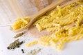 Free Raw Pasta On Spoon Stock Photo - 26584150