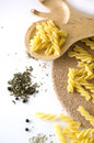 Free Uncooked Pasta And Spices Royalty Free Stock Image - 26584176