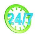 Free Week Service Sign Stock Image - 26584321