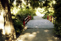 Free Red Bridge Path Stock Photo - 26584460