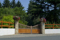 Free Wooden Gate, Entrance To A Front Yard Royalty Free Stock Photos - 26589508