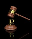 Free Gavel With Ruble Design Royalty Free Stock Photography - 26589767