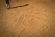 Free Tracks In The Dust Royalty Free Stock Photo - 26580065