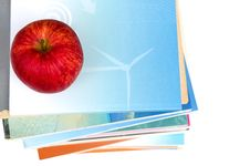 Free Red Apple On Top Of Book Stack Royalty Free Stock Photos - 26583448