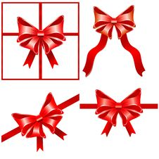 Free Red Bows Stock Photos - 26583583