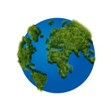 Free The Globe With Grass Stock Images - 26583594