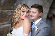 Free Bride And Groom Look At Each Other Royalty Free Stock Image - 26583796