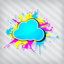 Free Cute Transparency Grunge Cloud Frame Royalty Free Stock Photography - 26584317