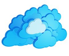 Free 3d Cloud Computing Icon Stock Photography - 26584372