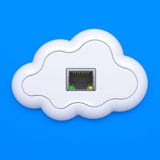 Free Cloud Computing Concept. Stock Image - 26584541